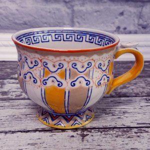 Anthropologie footed pedestal moriage mug